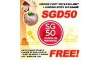 SG50 Massage Promotion! Foot & Body Package at just $50! Kang Jia Singapore