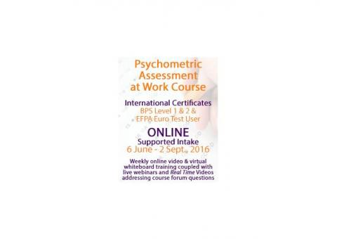 Online EFPA Training in Psychometric Testing at Work Course - BPS Level 1 & 2