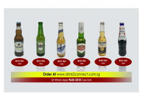 $99.80/ctn Kilkenny Irish Stout Beer, $96.80/ctn Kronenbourg Blanc 1664 Beer/Beer Delivery Singapore