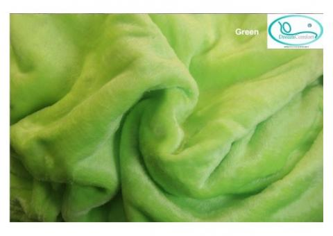Cheap and Good Quality Pure Color Soft Blankets Dream Comfort Singapore  Brand