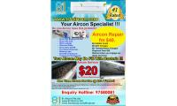 AIRCON SERVICE $20 ONLY !