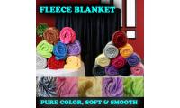 Pure Colour Soft Fleece Blankets | High Quality and Very Affordable Prices | Direct Factory Selling