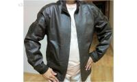 Selling Brand New Men's Brown Colour Leather Winter Jacket